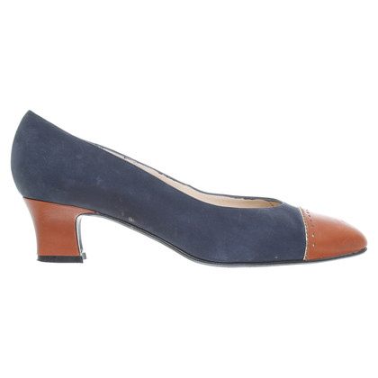 Bally Suede leather Pumps with leather inserts
