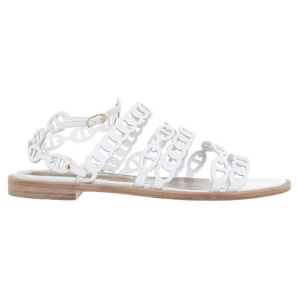 Hermès Sandals in White