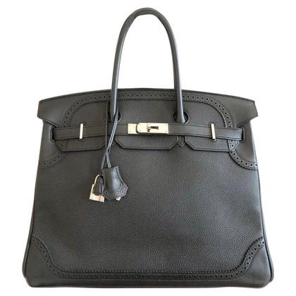 "Hermès ""Birkin Bag 35 Ghillies Togo Black PHW"""