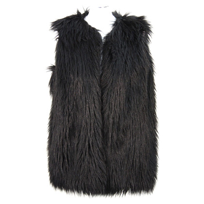French Connection Faux fur vest in zwart