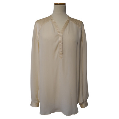 Boss Orange Zijden blouse in crème