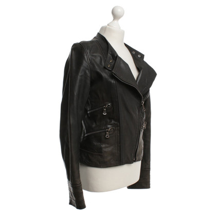 Dolce & Gabbana Leather Jacket in Black