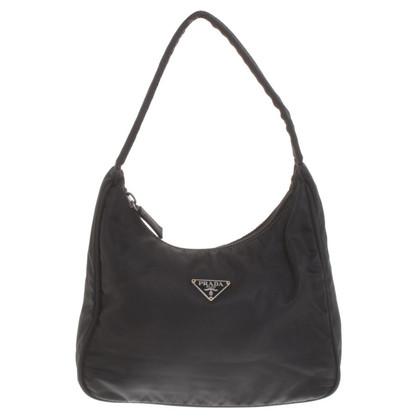 Prada sacchetto di nylon di colore nero