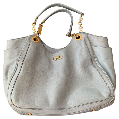 cd983588d37d Salvatore Ferragamo Handbag Leather in Blue - Second Hand Salvatore ...