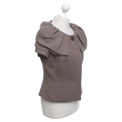 Rena Lange Short sleeve jacket in brown