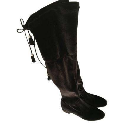 Prada stivali al ginocchio in nero