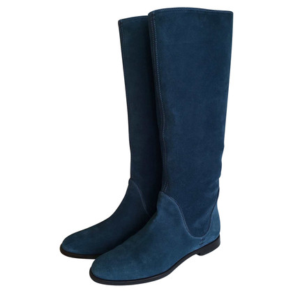 Sergio Rossi Flat suede boots