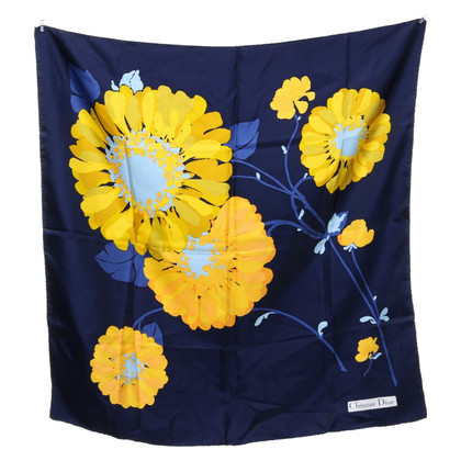 Christian Dior Silk scarf with floral motif