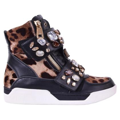 Dolce & Gabbana Sportschoenen met kristallen