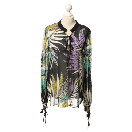 Just Cavalli Transparante blouse met patronen