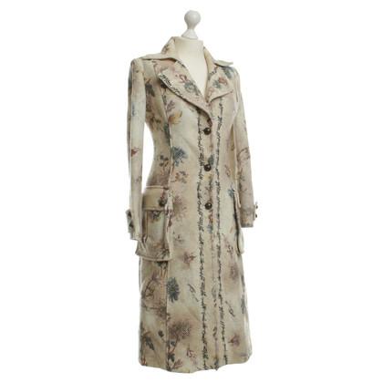 Ferre Beige coat with pattern
