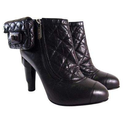 Chanel Quilted Boots Second Hand Chanel Quilted Boots Buy Used For