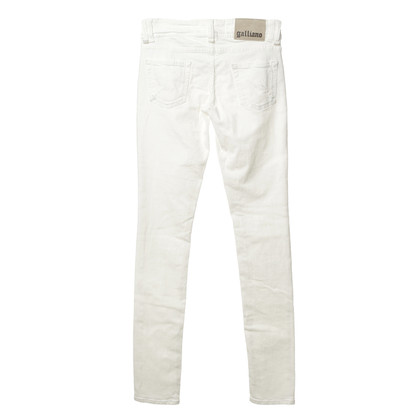 John Galliano Jeans in bianco