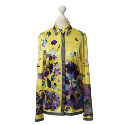Gianni Versace Blouse silk with patterns