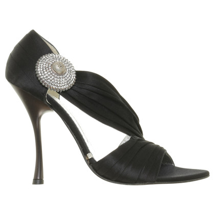 Gianmarco Lorenzi Pumps in black with brooch