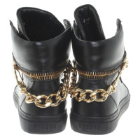Versace High top sneakers in black