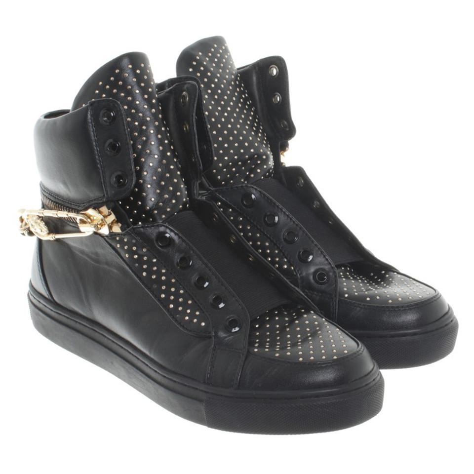 Versace High top sneakers in black