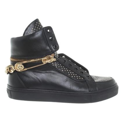 Versace High-Top-Sneakers in Schwarz