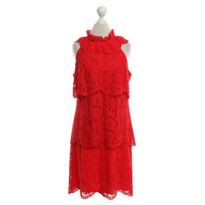 Reiss Lace dress in red