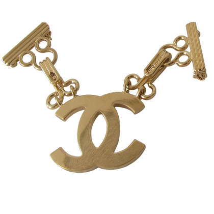 Chanel CC logo Couturier brooch with hook and eye closure
