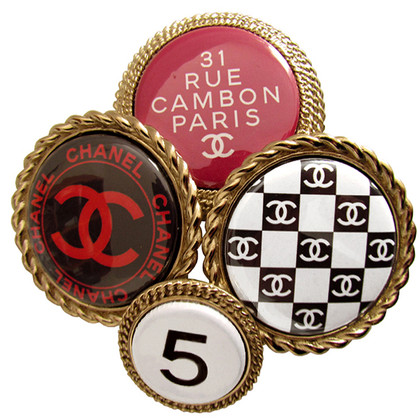 Chanel Brooch in XXL with logos