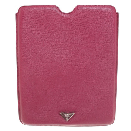 Prada iPad cover in fuchsia