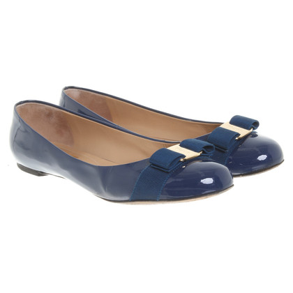 Salvatore Ferragamo Ballerina's in blauw