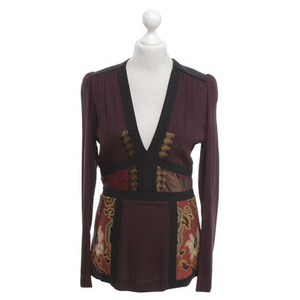 Etro top with pattern mix