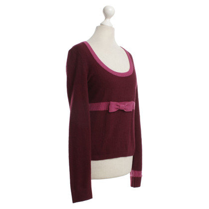 Nanette Lepore Cashmere sweater in Bordeaux