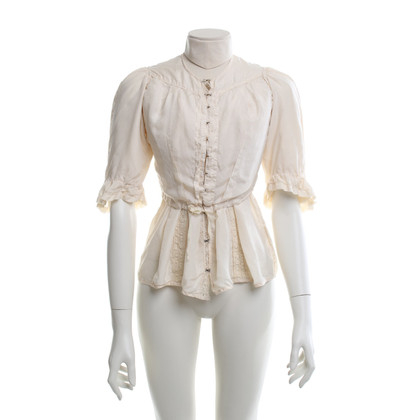 All Saints Zijden blouse in crème