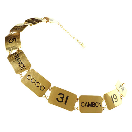"Chanel Belt with plates ""Coco 5 Paris 19 Cambon"""
