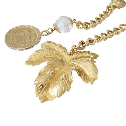 Chanel Cintura - perle medaglioni foglia di acero