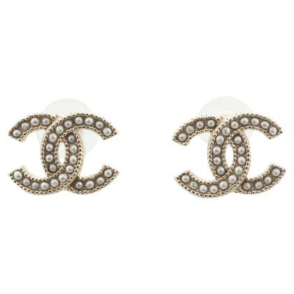 Chanel Ohrstecker mit Perlenbesatz