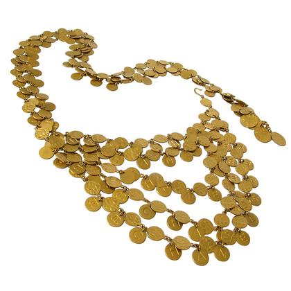 Chanel 5-Reihen Gürtel unzählige CC Münzen