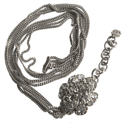 "Chanel Belt with ""Sautoir"" chain and Camellia"