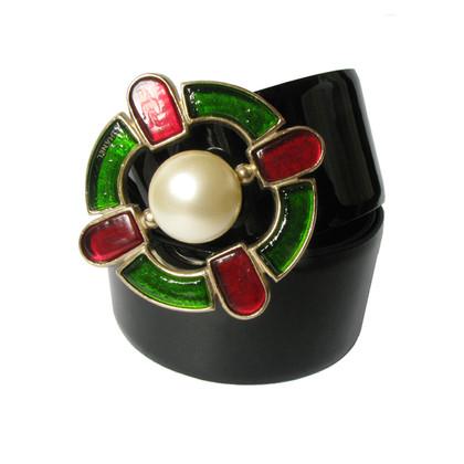 Chanel Cintura in vernice con fibbia della Croce di Malta