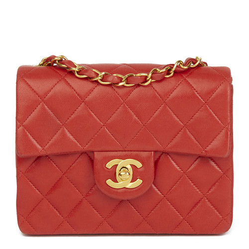 a6c2cfc7522c07 Chanel Leather Flap Bag in red - Second Hand Chanel Leather Flap Bag ...