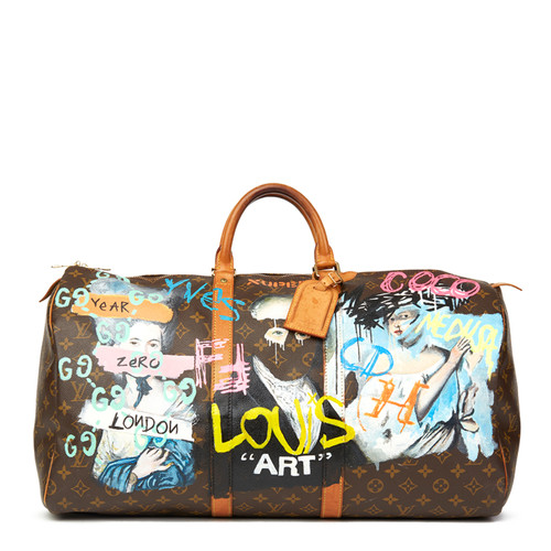 62f8781db Louis Vuitton Keepall 55 from Monogram Canvas in brown - Second Hand ...