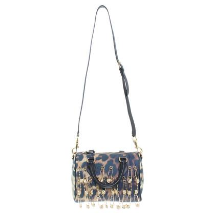 Versace La borsa in pelle stampa animalier