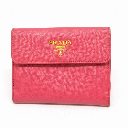f03e122e438d8 Prada Täschchen Portemonnaie aus Leder in Rosa   Pink - Second Hand ...