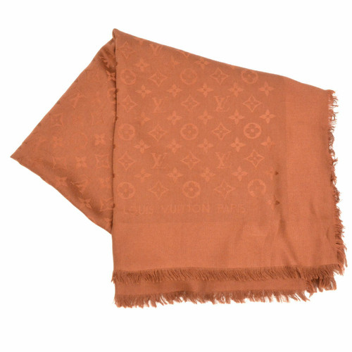 1ce528450bc0a Louis Vuitton Schal Tuch aus Wolle in Braun - Second Hand Louis ...