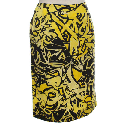 Versace skirt in yellow / black
