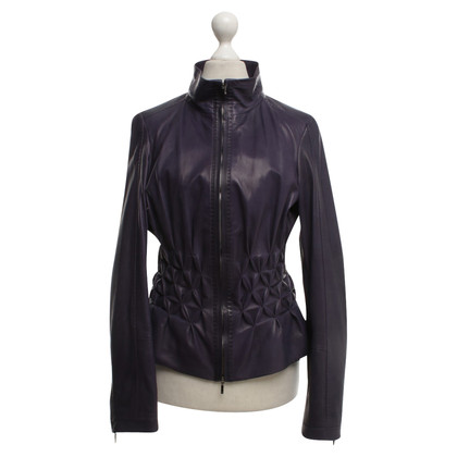 Escada Leather jacket in violet