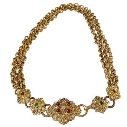 Chanel Chain belt with Gripoix glass blocks