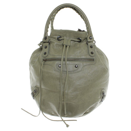 "Balenciaga ""Giant Pompon bag"" in green"