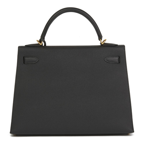 da4284860c284 Hermès Kelly Bag 32 aus Leder in Schwarz - Second Hand Hermès Kelly ...