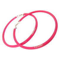 Chanel Large hoop earrings - strong pink
