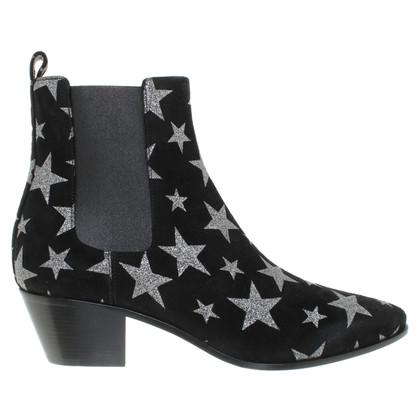 Saint Laurent Stiefeletten mit Sternen