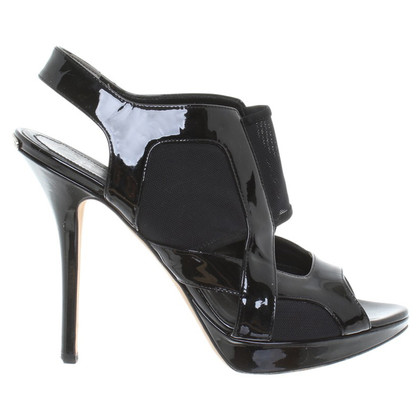 Christian Dior Slingback peep-toes in black