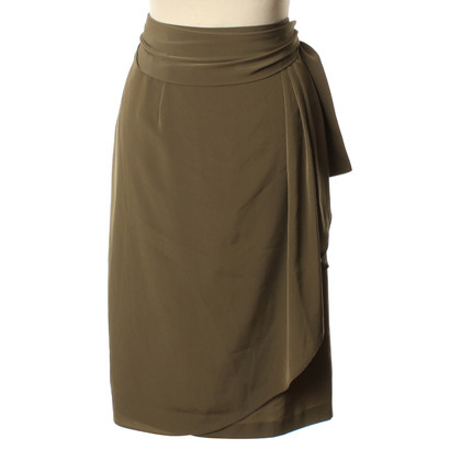 Burberry Wrap skirt in khaki